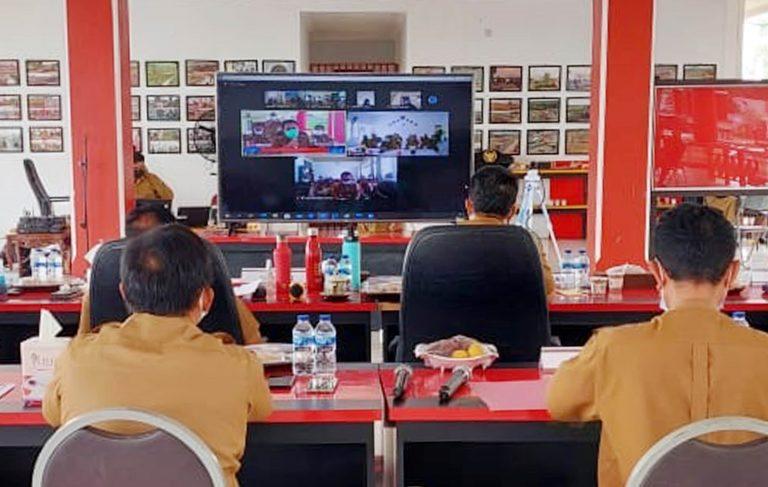 Nanang Gelar Rapat Virtual Dengan Camat dan Kades se-Lamsel